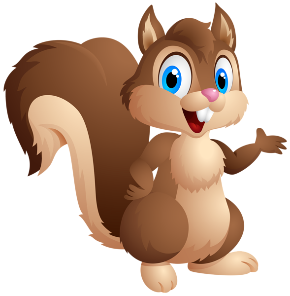 Hamster clipart forest animal. Cute squirrel cartoon png