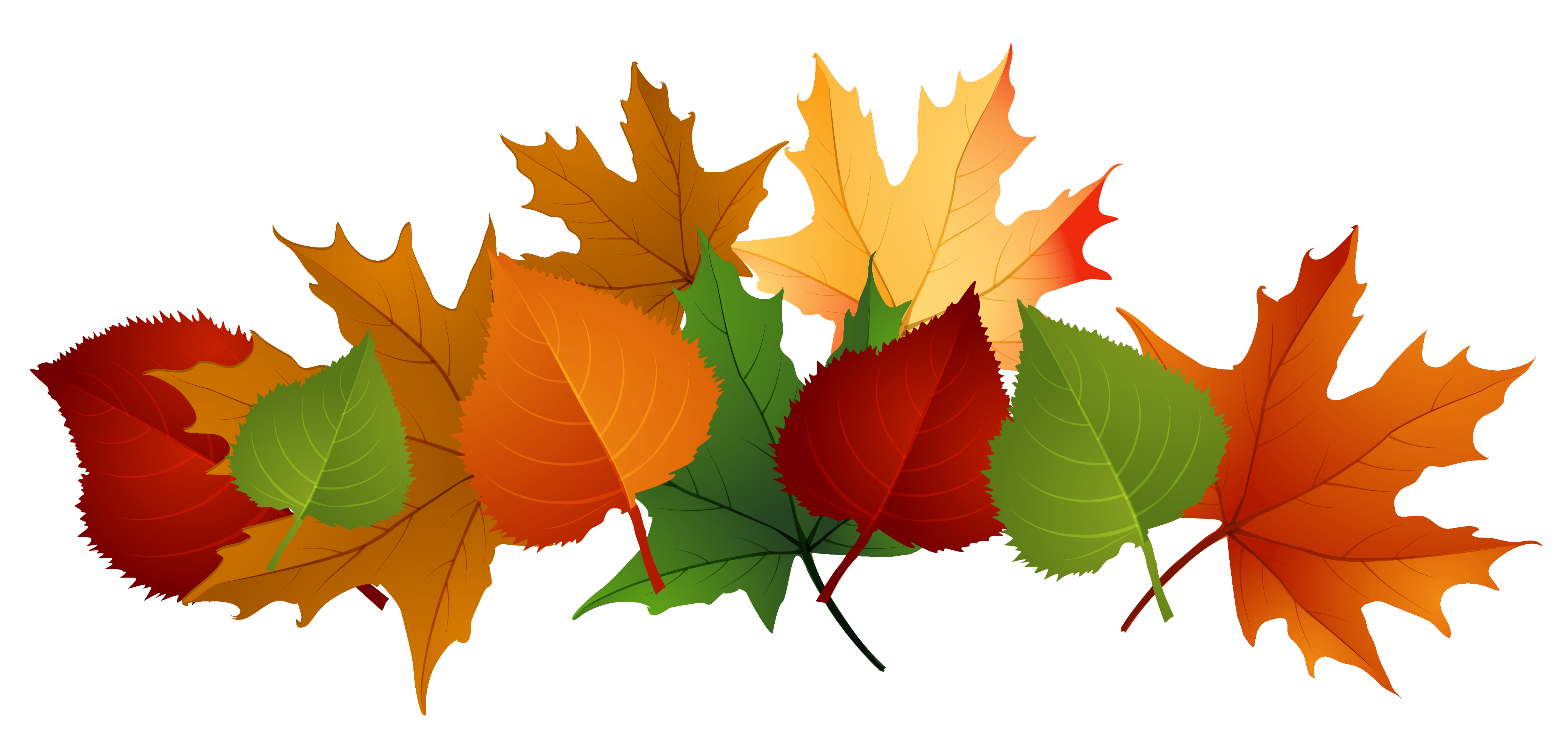 Clipart halloween leaves. Autumn pile clip art