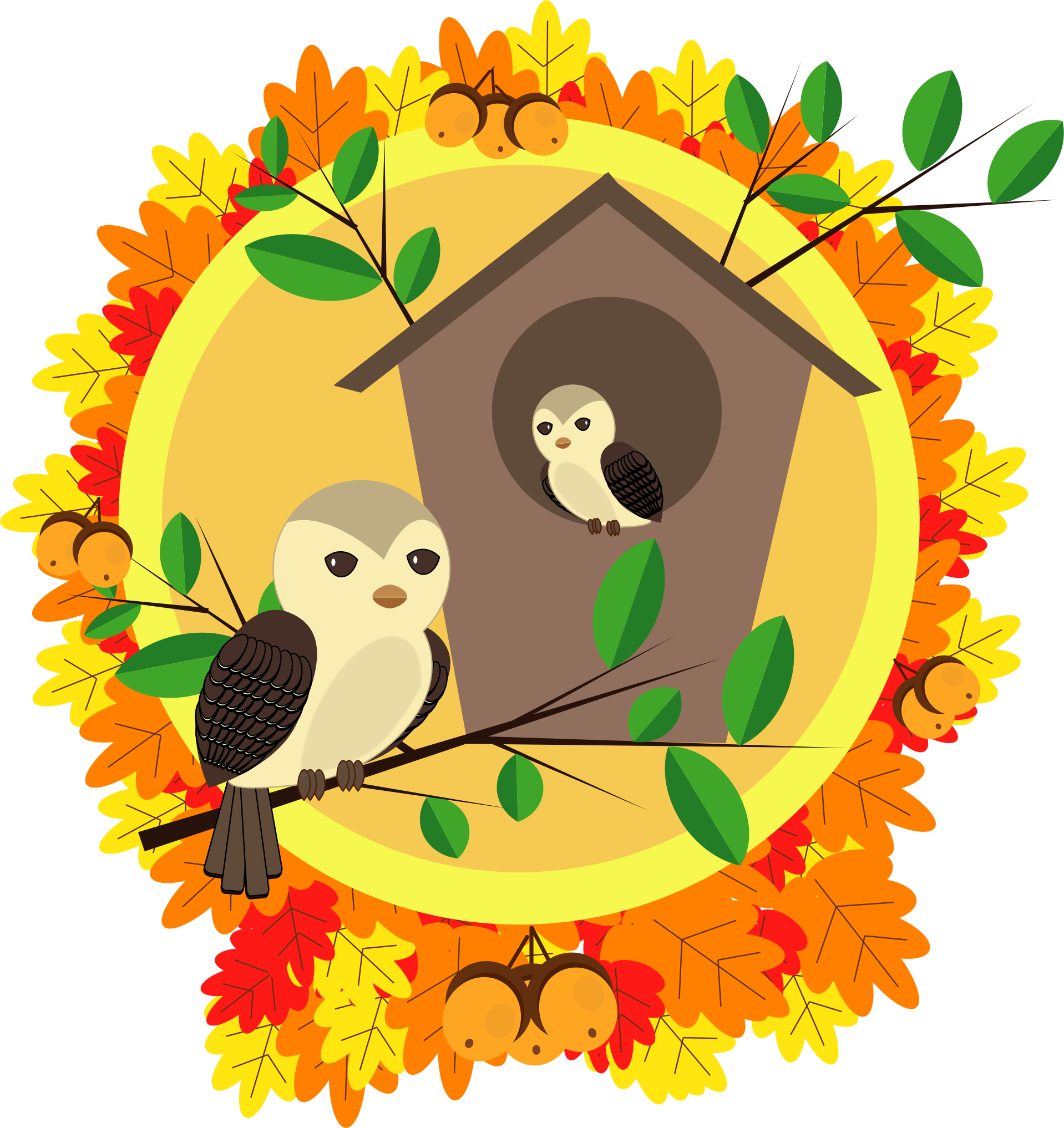 Clipart happy autumn. Big image png