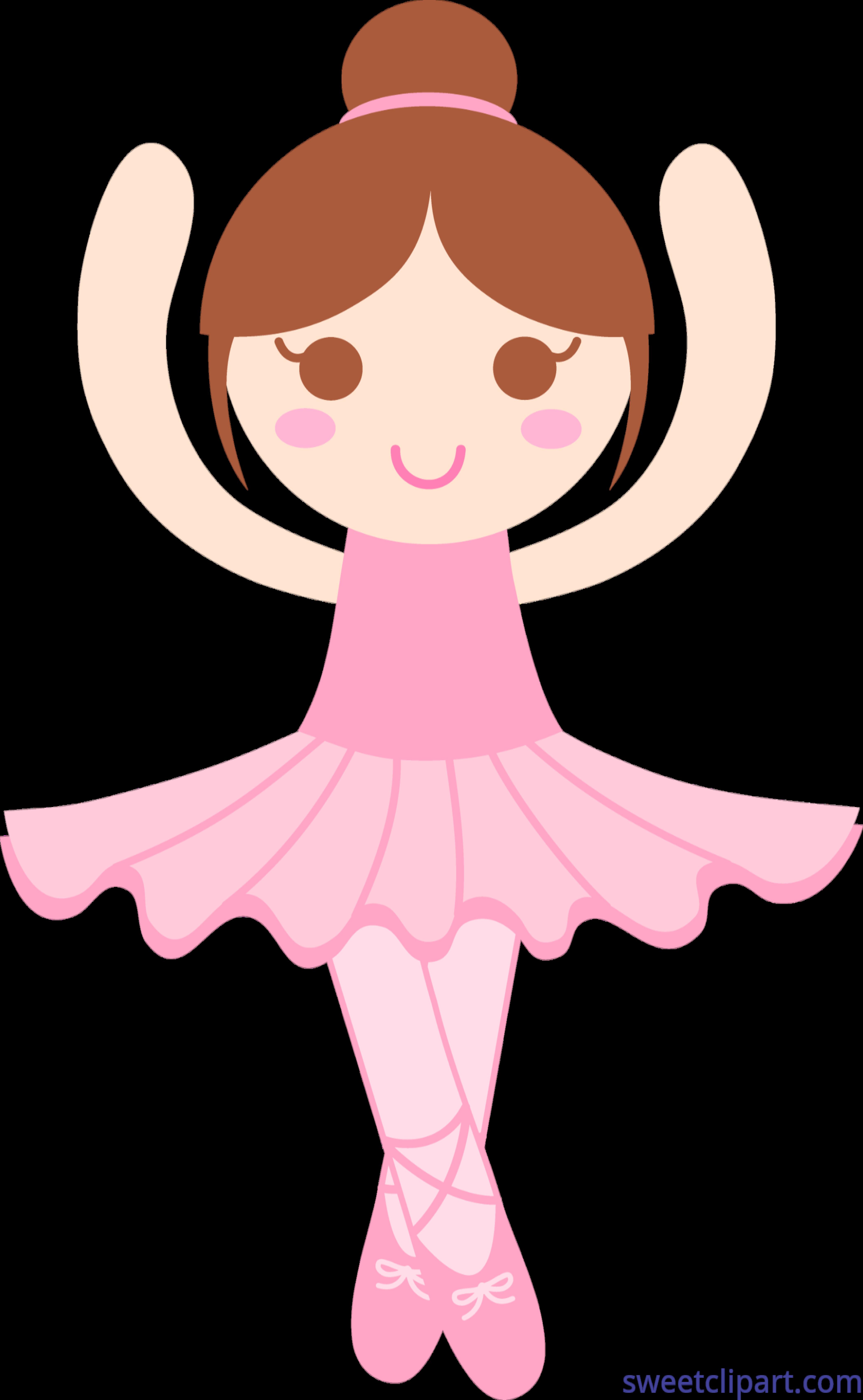 Ballerina clip art sweet. Clipart dance cute
