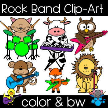Rock animal . Clipart animals band