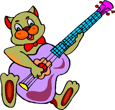 Clipart animals band. Free music art images