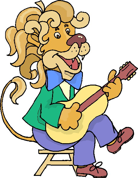 Free music art images. Clipart animals band