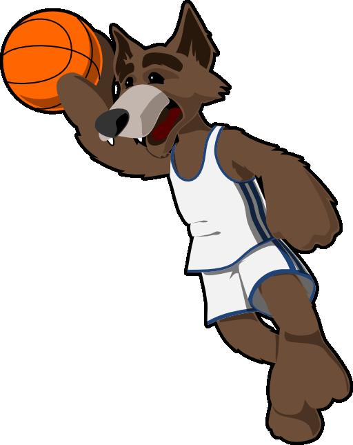 Wolf i royalty free. Clipart santa basketball