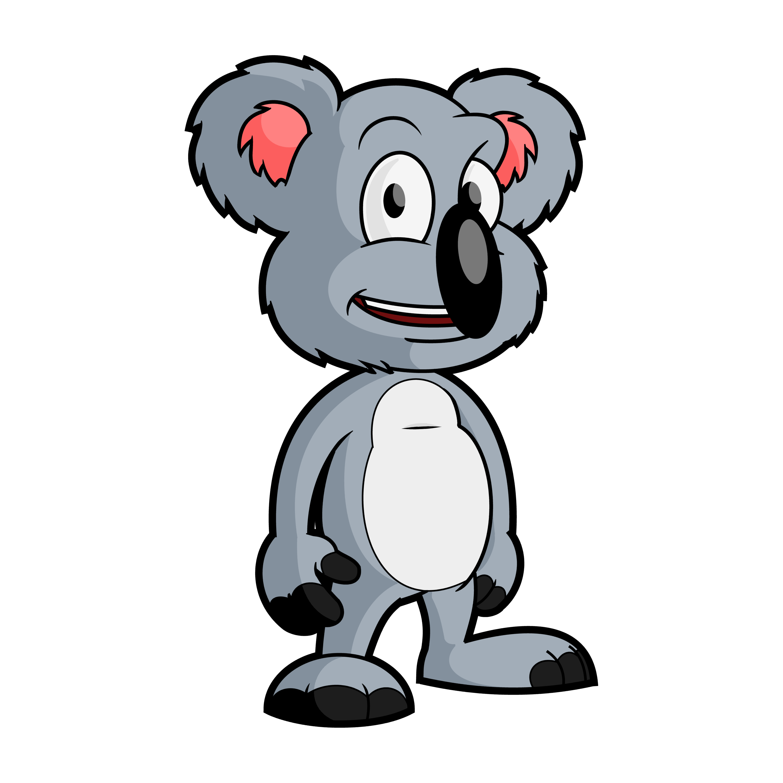 Einstein clipart line drawing. Koala bear at getdrawings