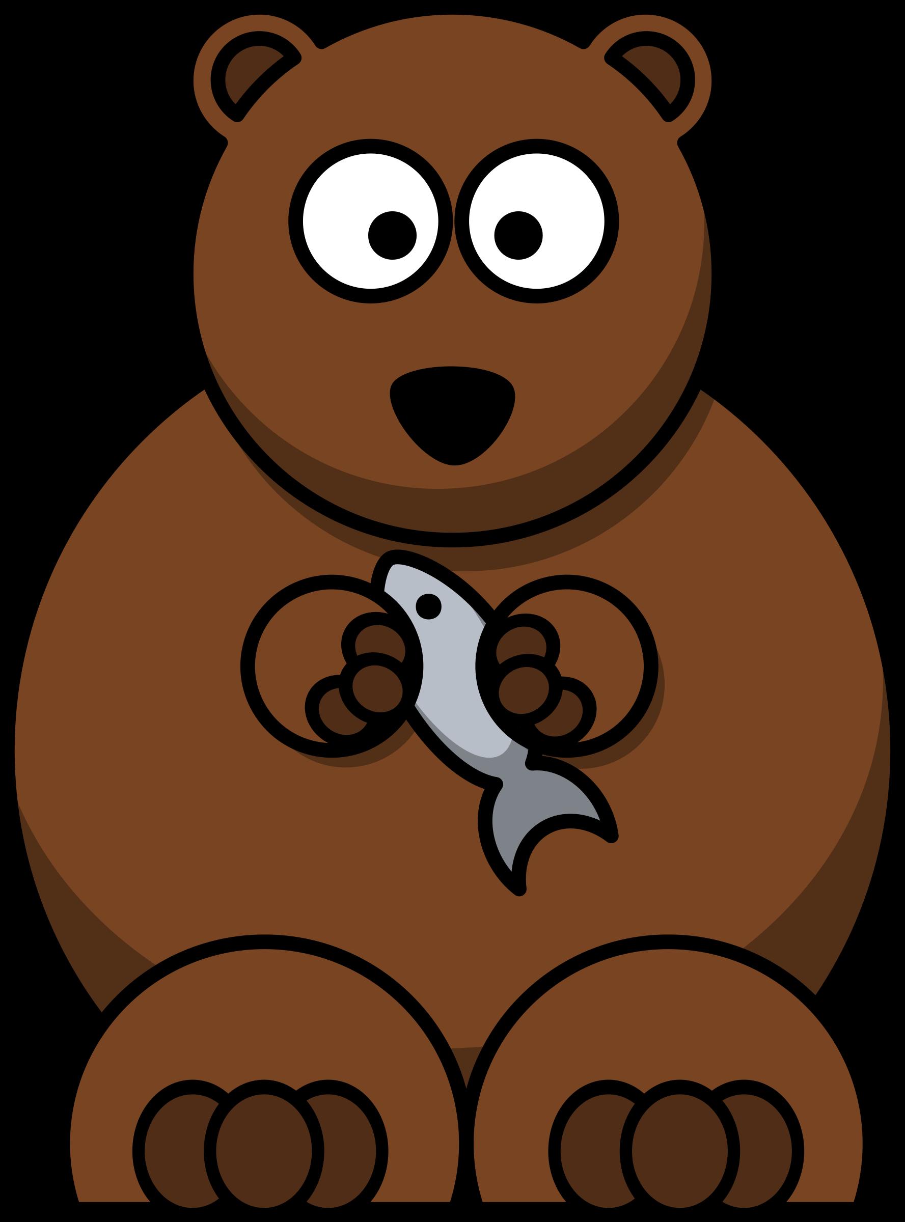 Cartoon bear big image. Groundhog clipart vector