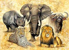 Clipart animals big 5.  best images in