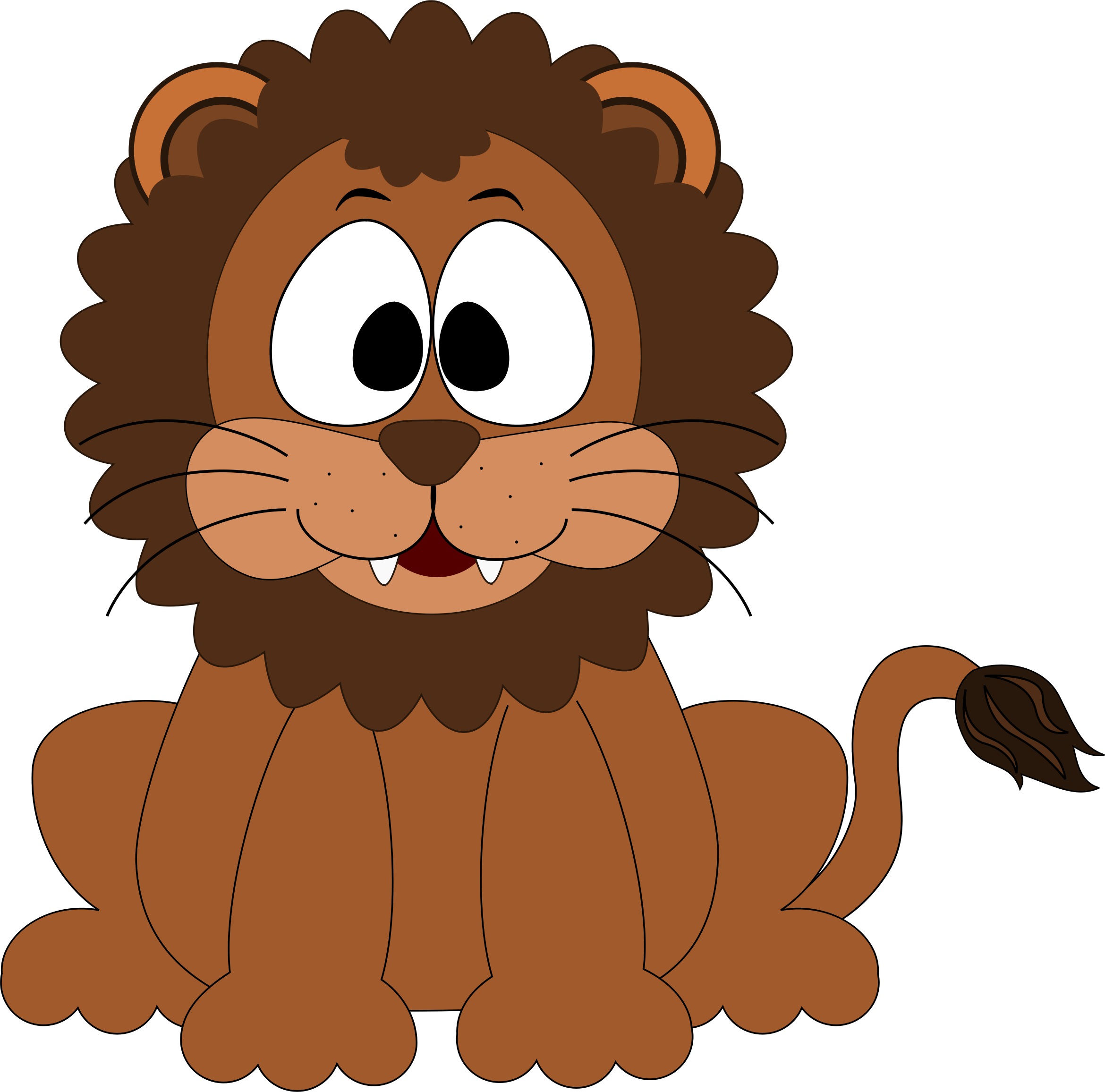 Clipart animals big 5. Cartoon lion image png