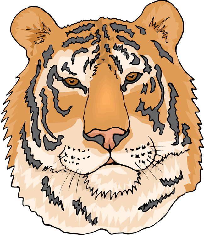 Clipart face tiger. Free