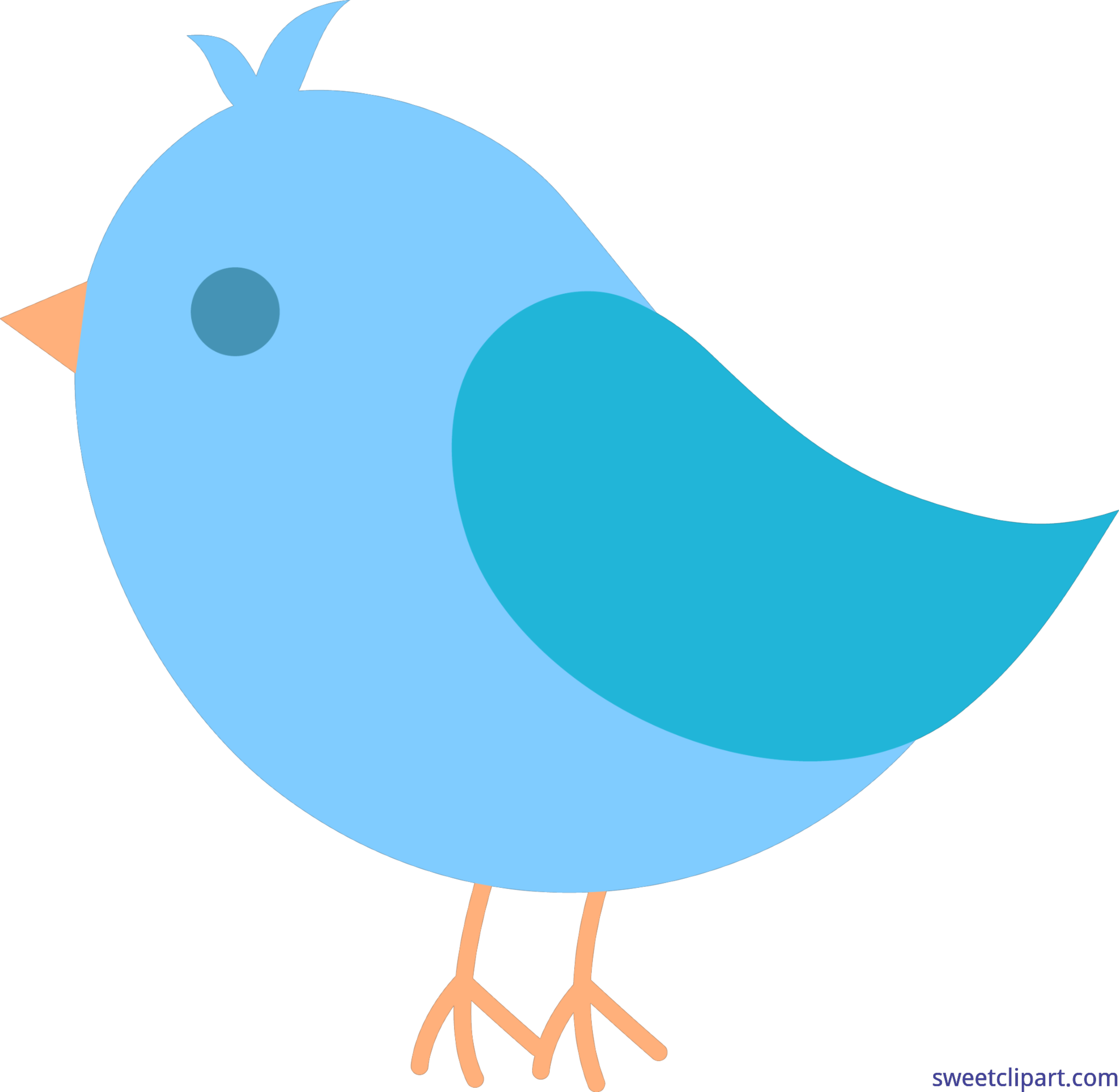 Cute blue clip art. Nest clipart bird family