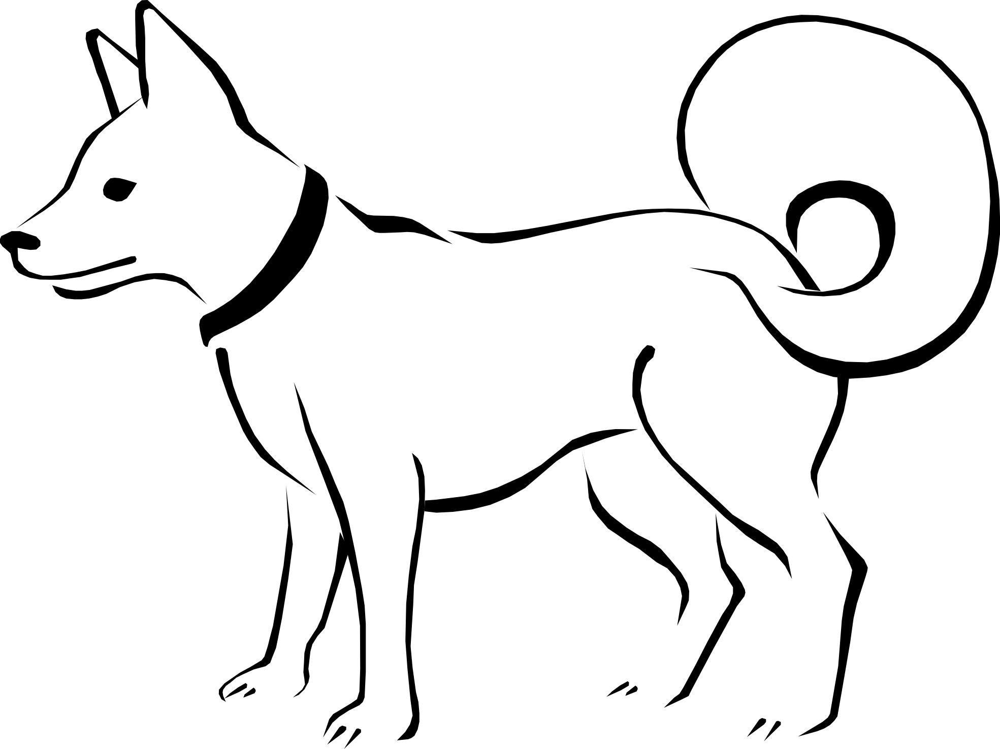 Pet clipart farm dog. Black and white clip