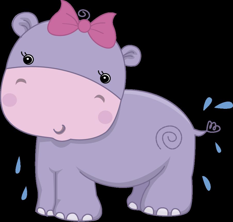 Clipart hippo zoo animal. Pretty pink girly jungle