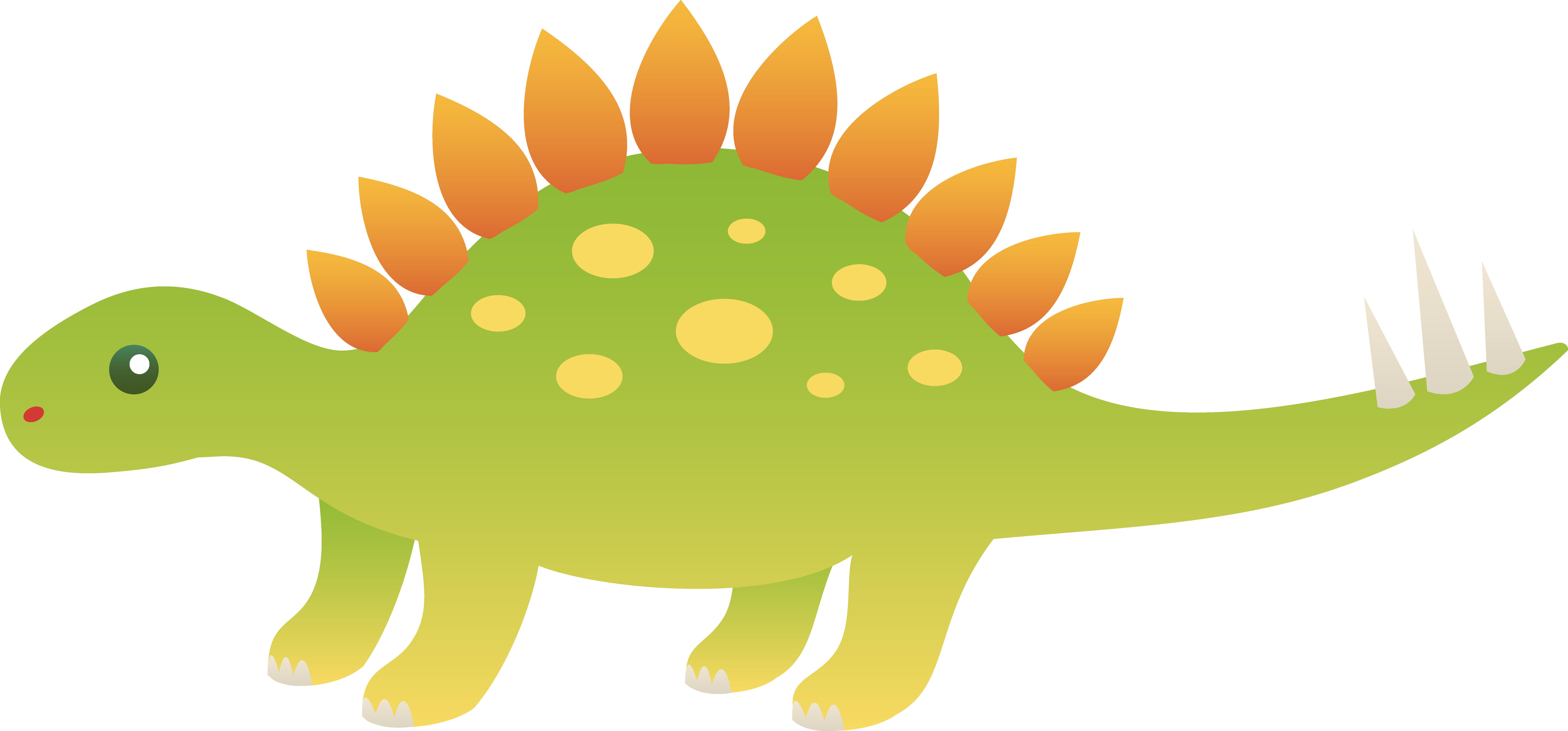 Fossil clipart stegosaurus. Cute dinosaur free clip