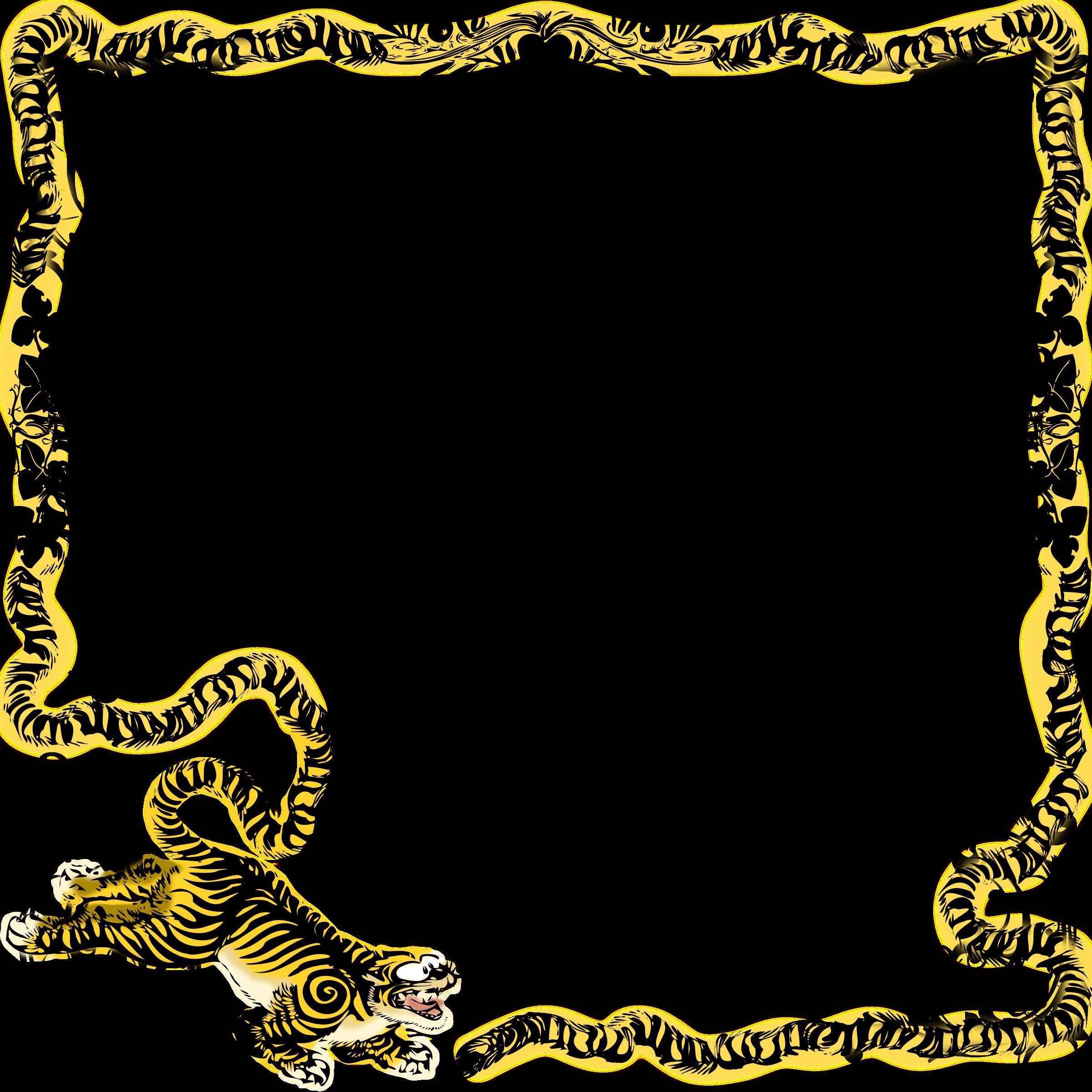 Frames clipart animal. Tiger frame mono big