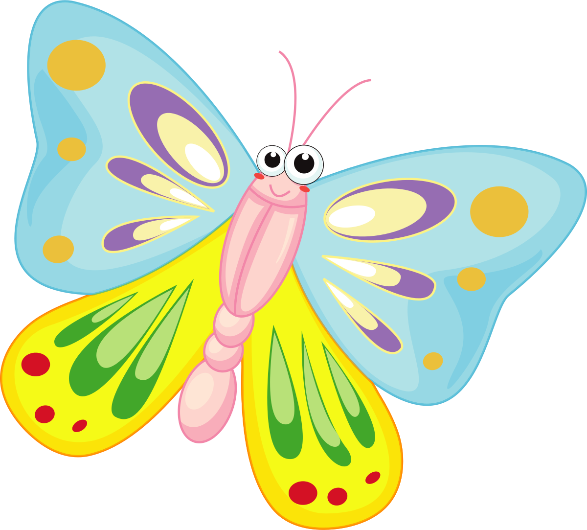 Clip art images kelebek. Insect clipart colorful flying butterfly