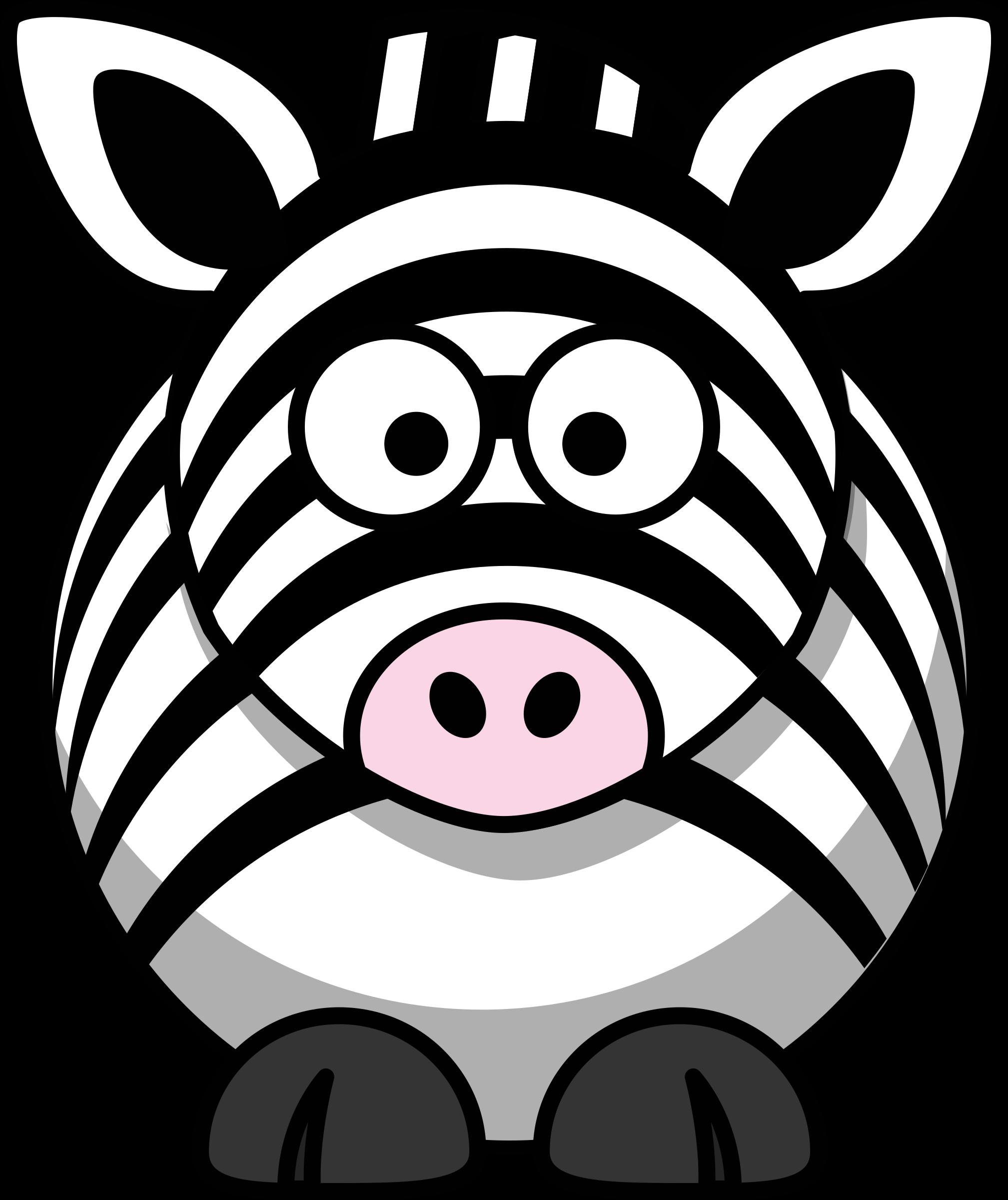Coloring clipart zebra. Cartoon big image png
