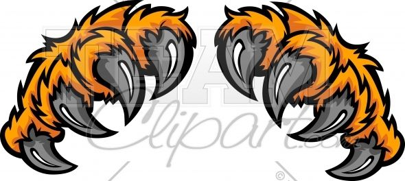 Wildcat clipart tiger claw. Claws cartoon image art