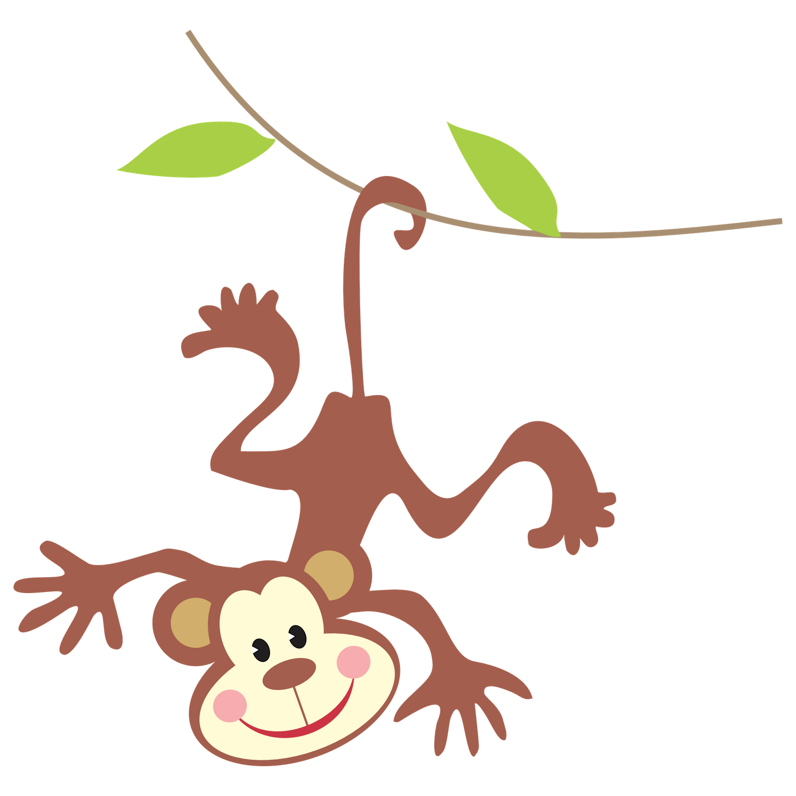 Art use these free. Monkey clipart elephant