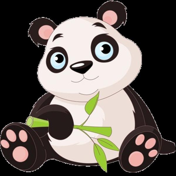 Panda bears cartoon animal. Clipart bear mountain