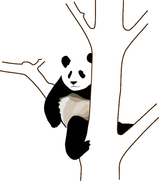 Clipart bear giant panda. Cute animations in tree