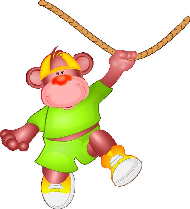 Free monkey swinging. Environment clipart animal