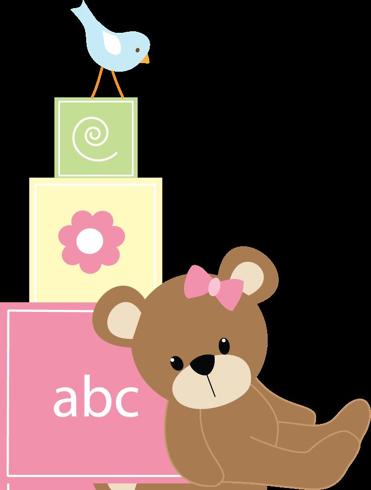 Beb menino e menina. Infant clipart alphabet block
