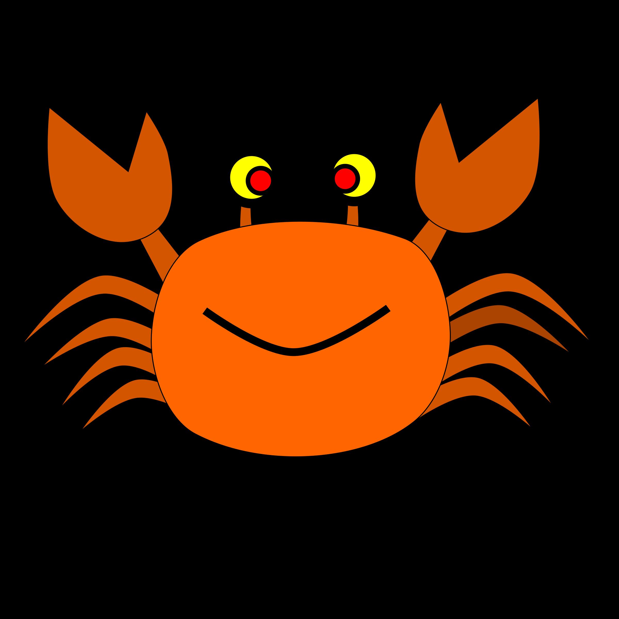 Crab. Crabs clipart description