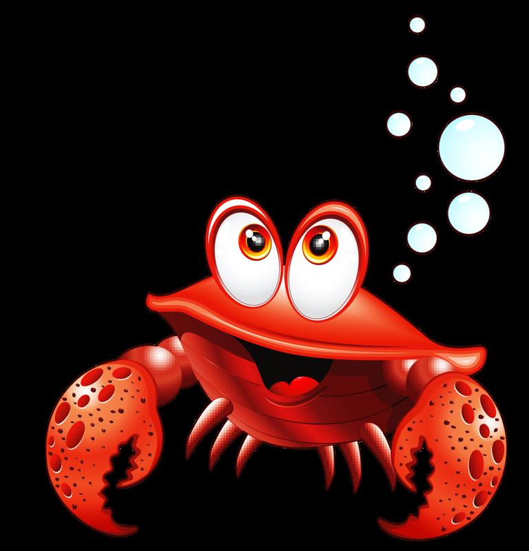 Clipart fish crab.  png pinterest ocean