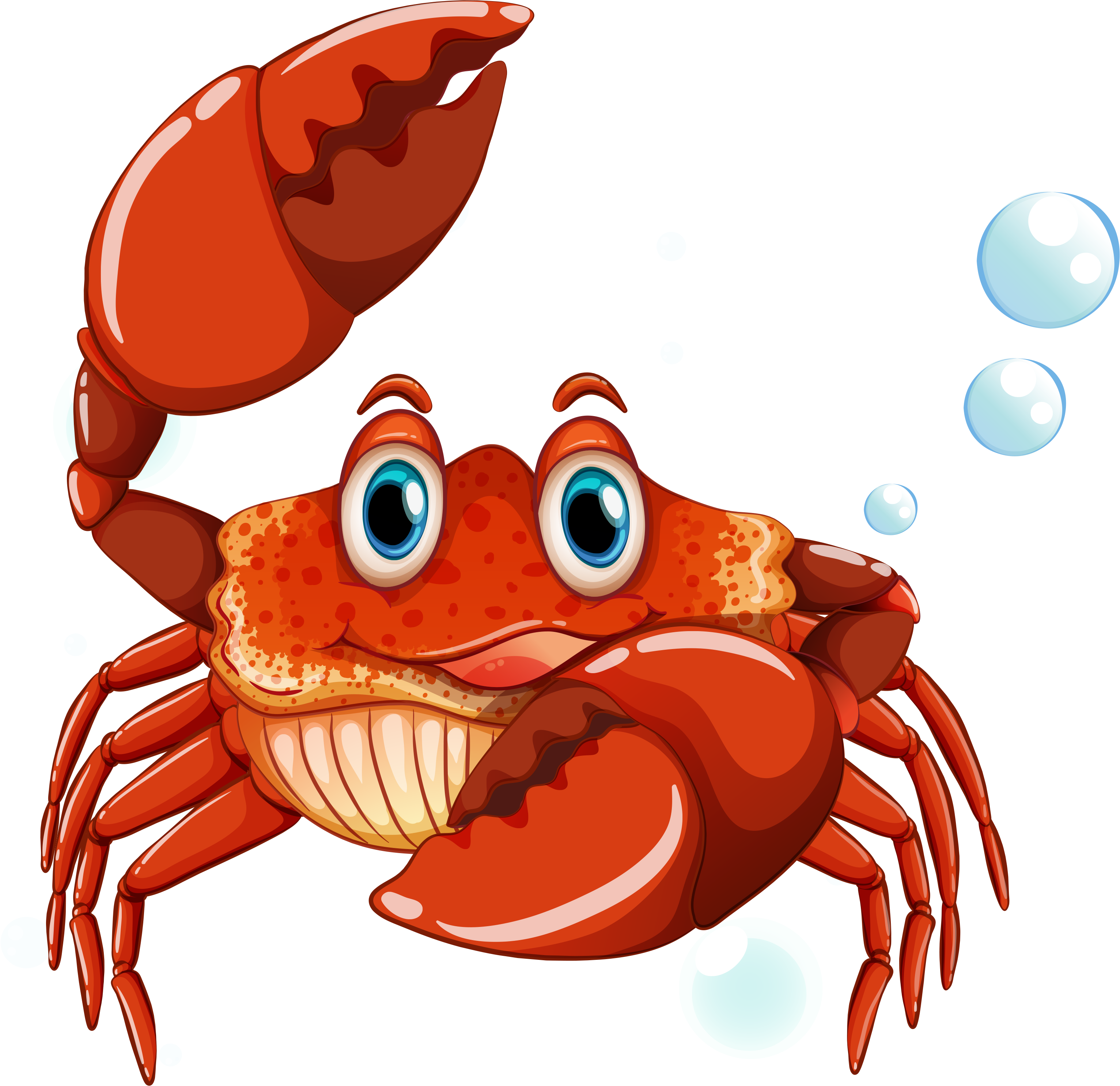 Clipart fish crab.  e f b