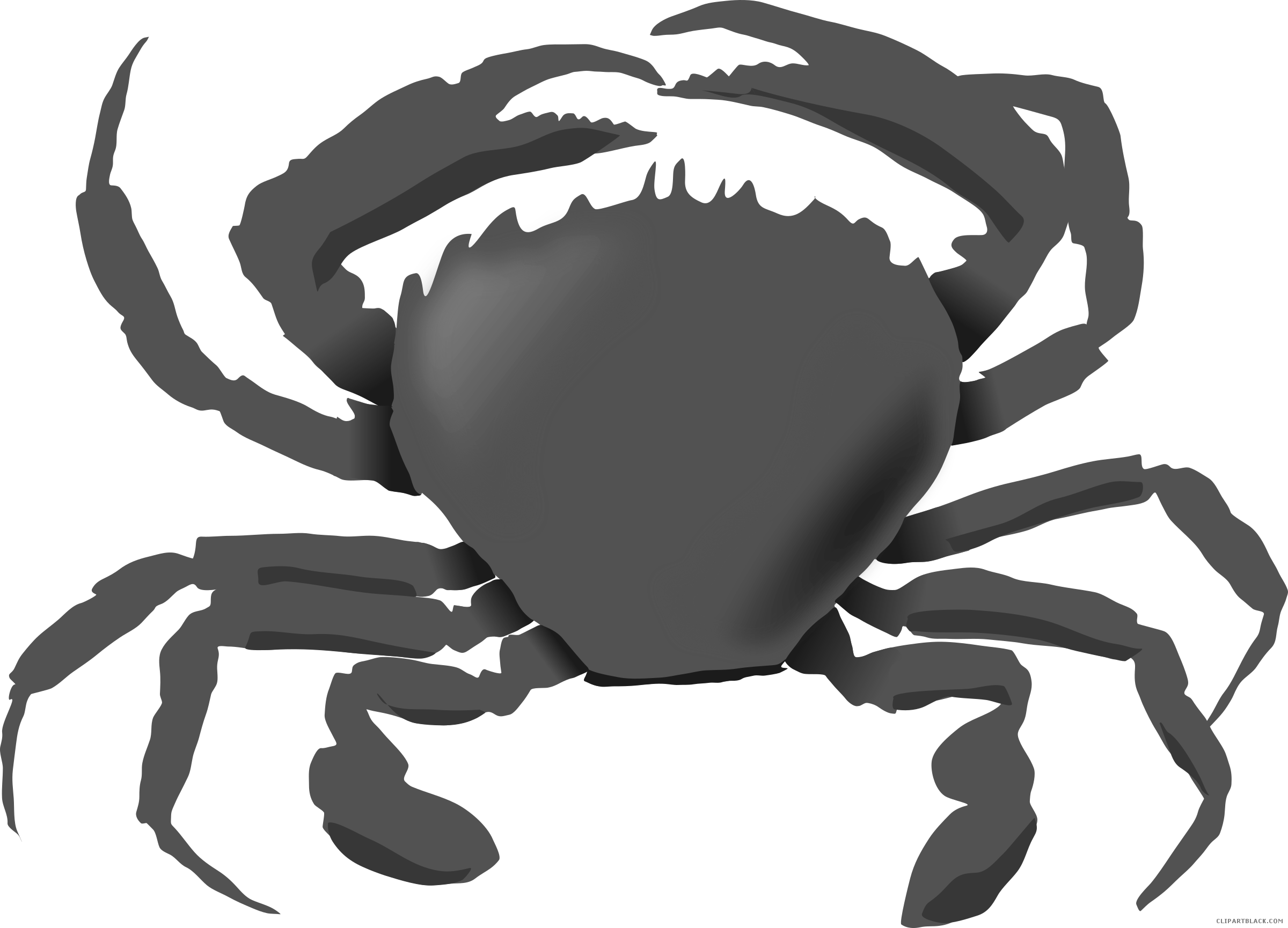 Crabs clipart black and white. Awesome crab clipartblack com