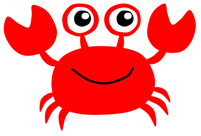 Easy silouette clip art. Clipart fish crab