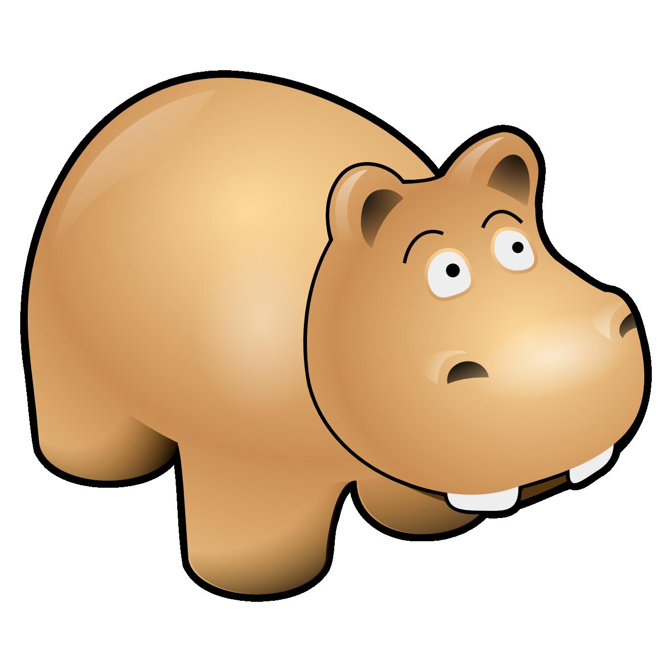 Hippo clipart cartoon. The mascot design gallery