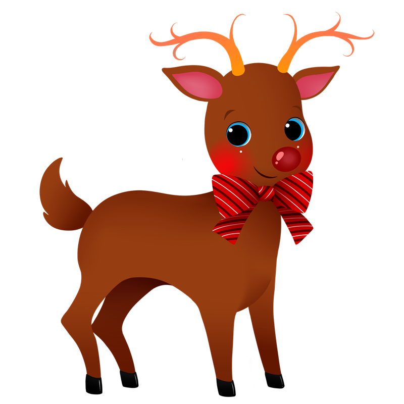Deer clipart nose. Christmas at getdrawings com