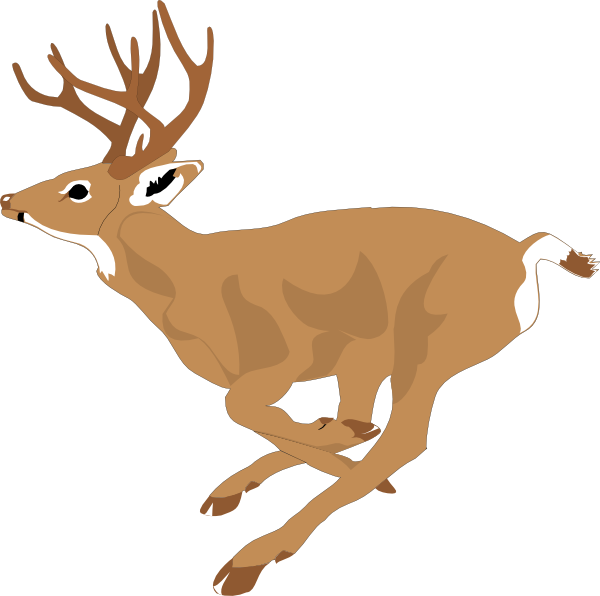 Clipart reindeer group. Running deer clip art