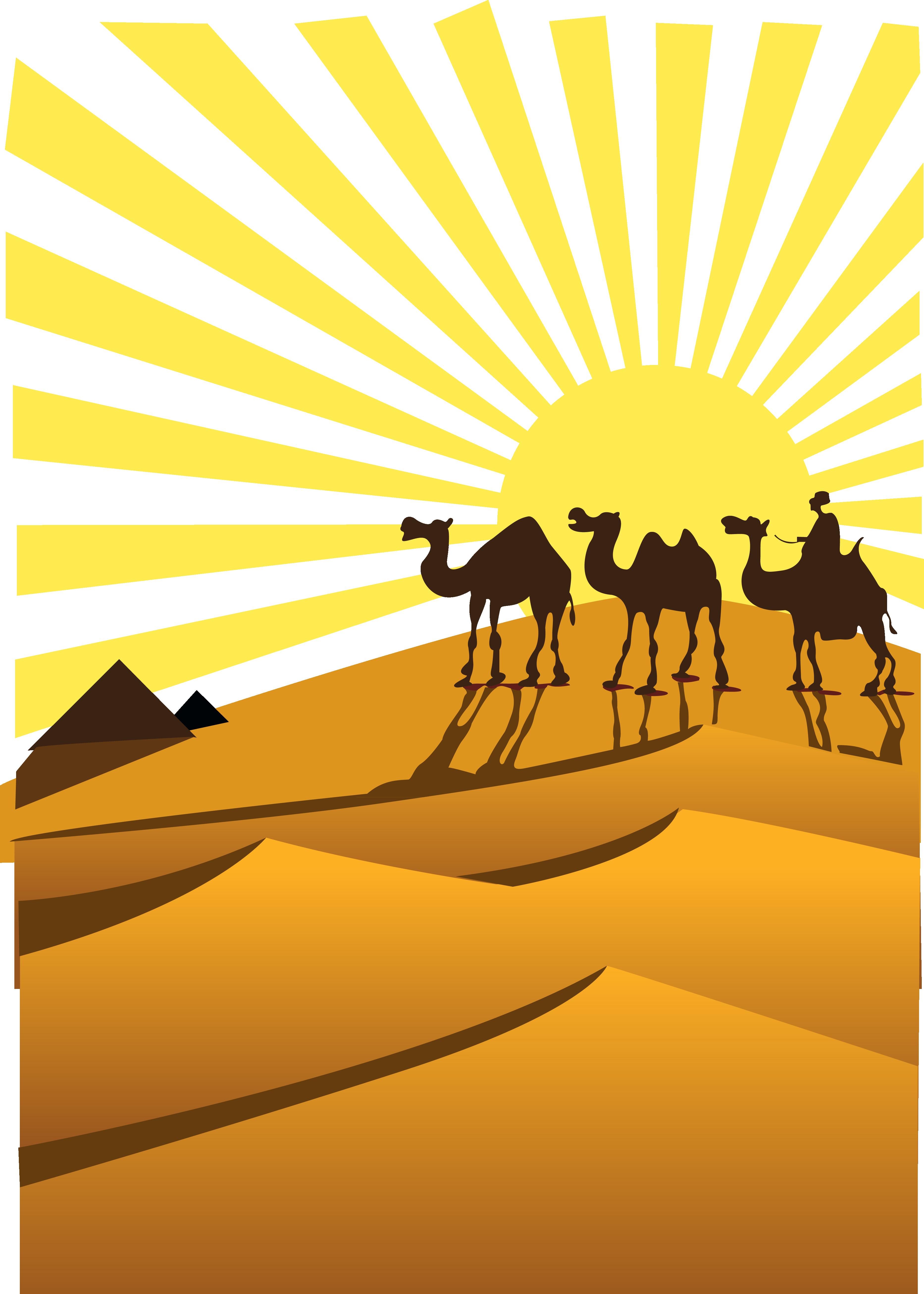 Sahara camel clip art. Desert clipart desert landform