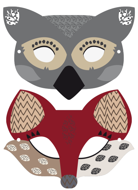 It's just a graphic of Printable Wolf Mask in cardboard