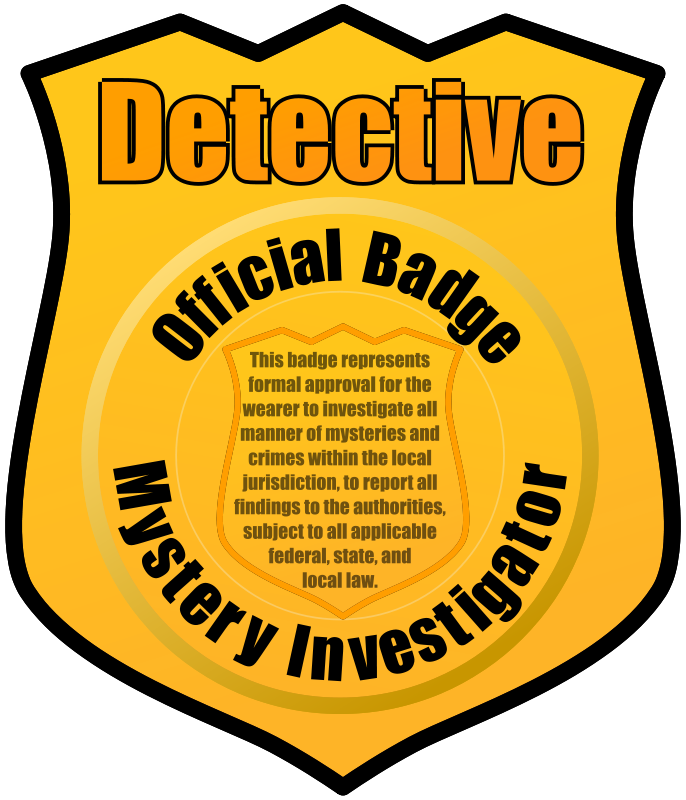 Words clipart detective. Badge by eady clip