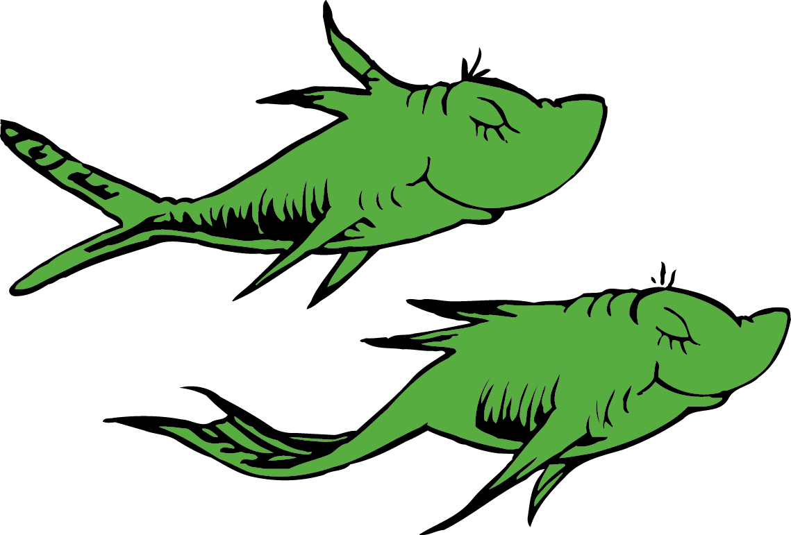 Red blue at getdrawings. Clipart fish green