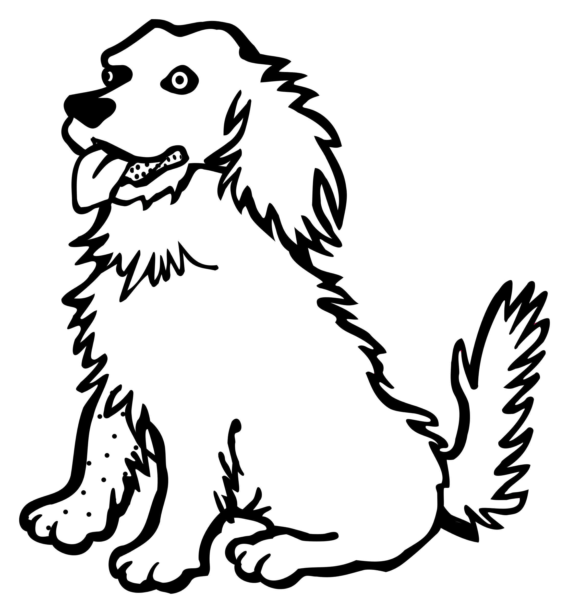 Princess clipart puppy. Dog line drawing at