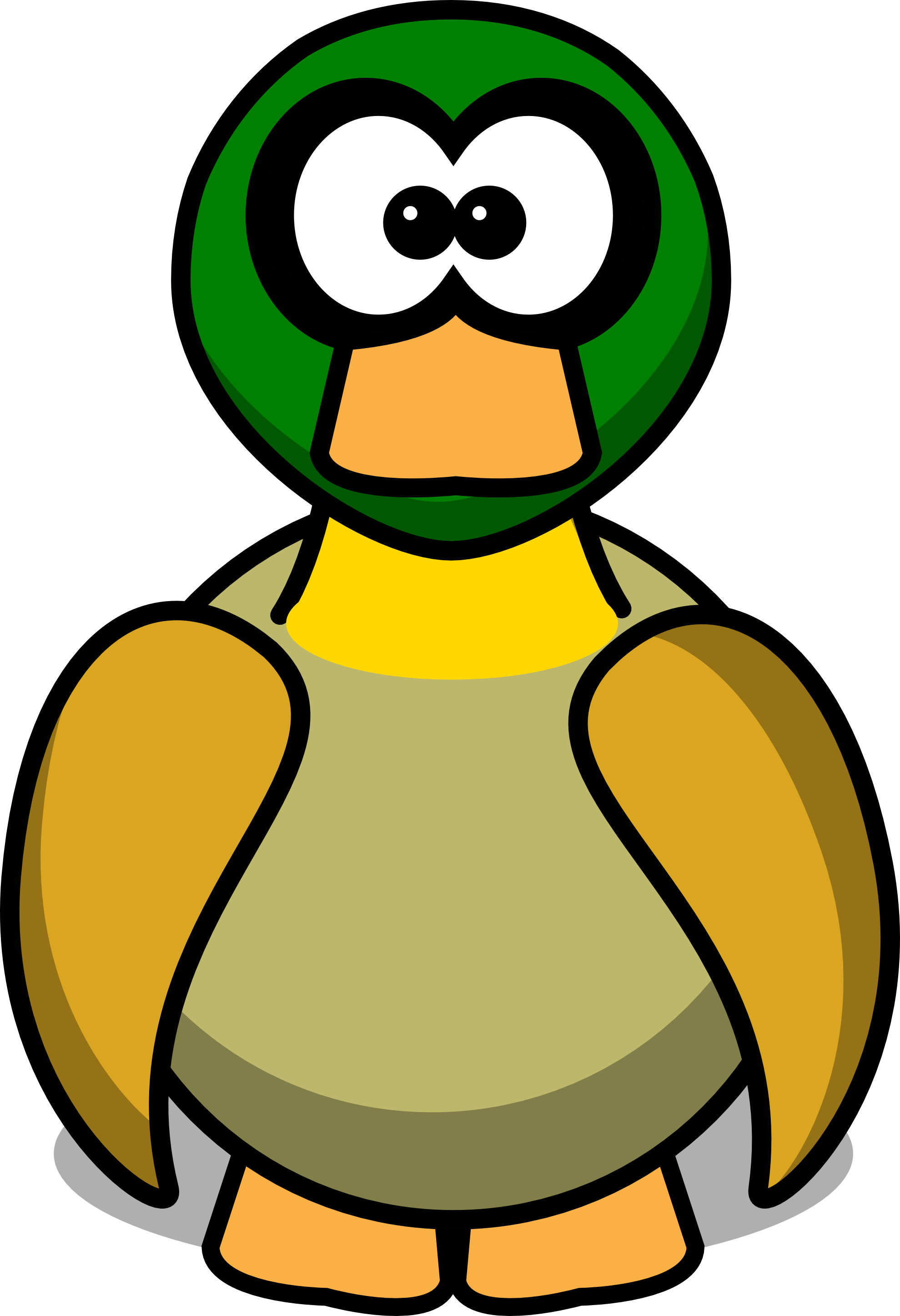 Cute funny duck cartoon. Ducks clipart simple
