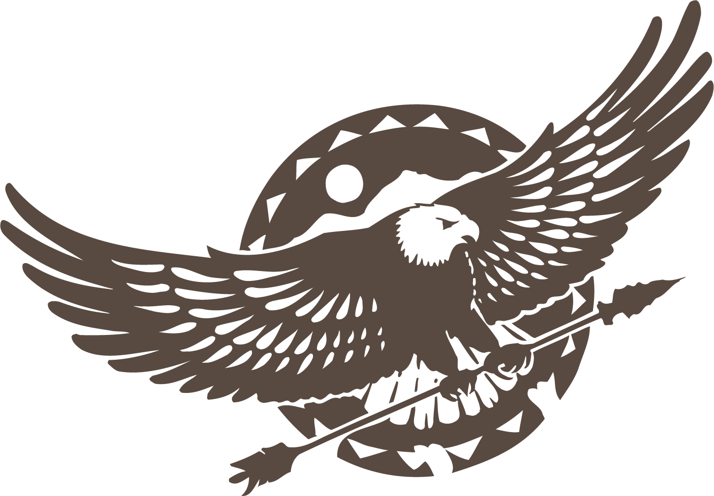 Eagle decal arrow clip. Wing clipart owl