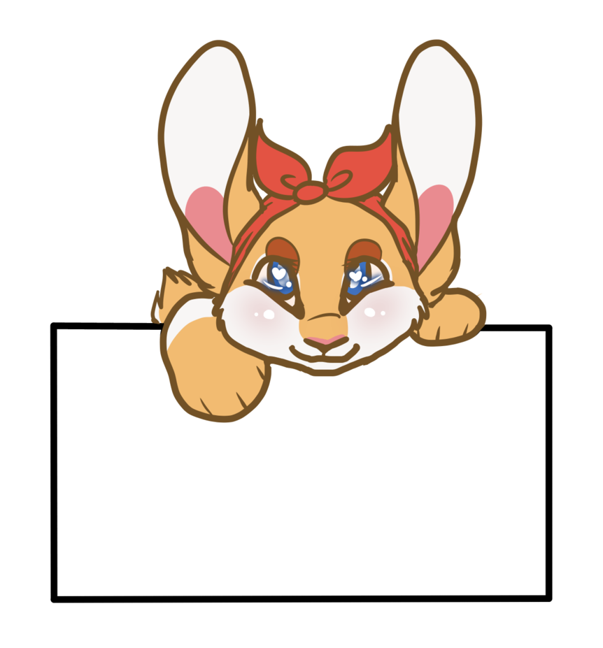 Text red fox animal. Clipart box cat
