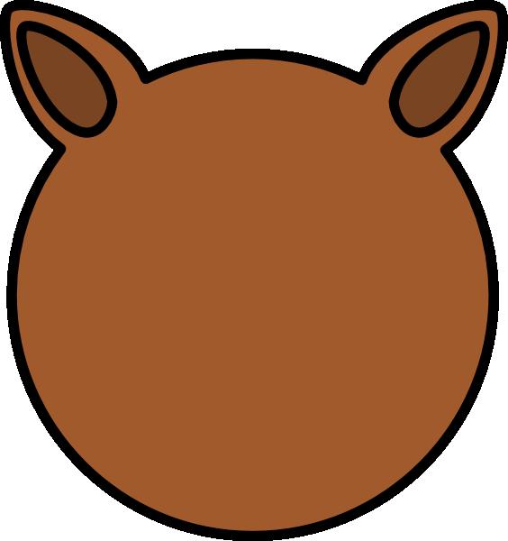 Horse clipart ear. Animal ears panda free