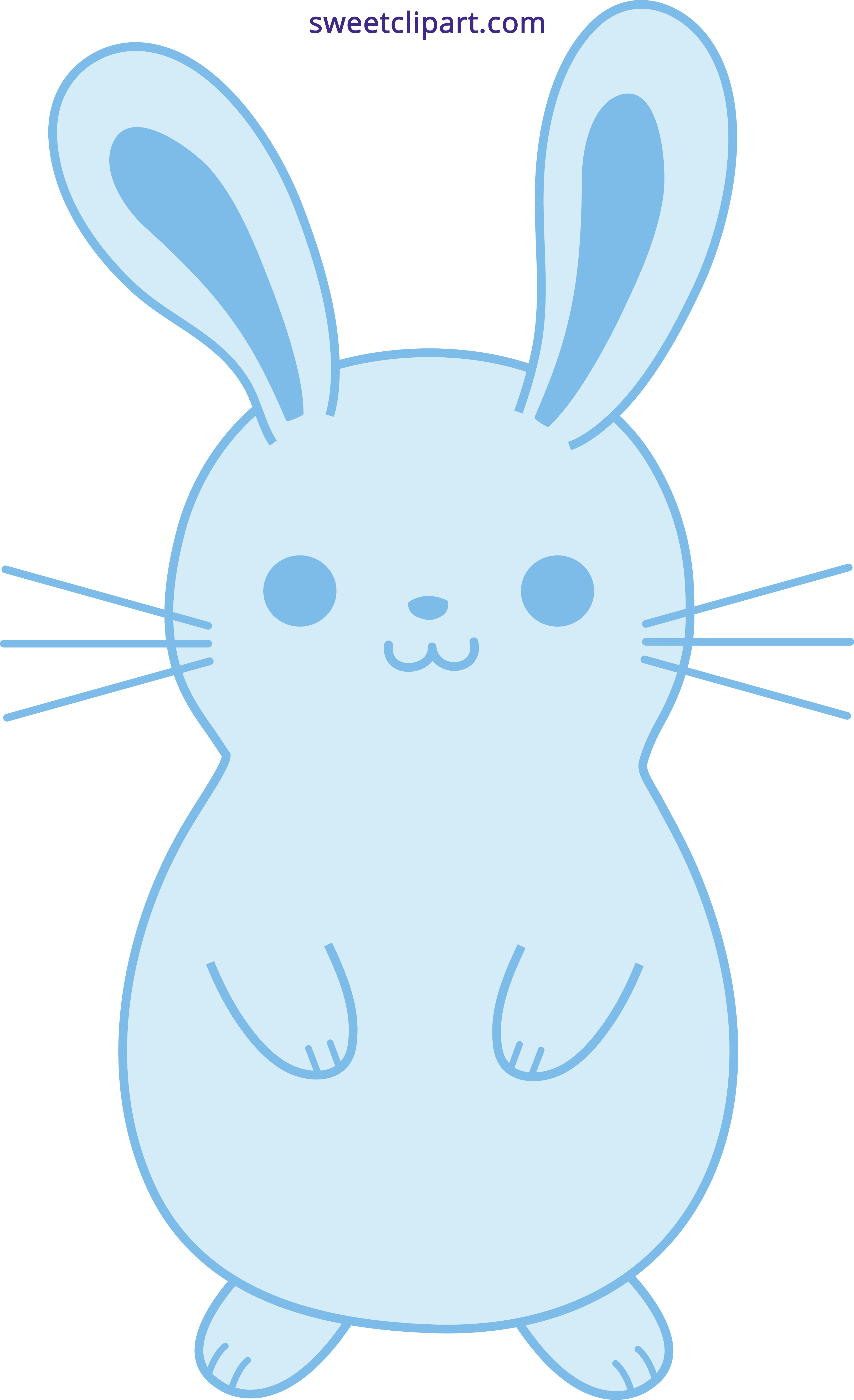 Cool clipart bunny. Cute blue easter rabbit