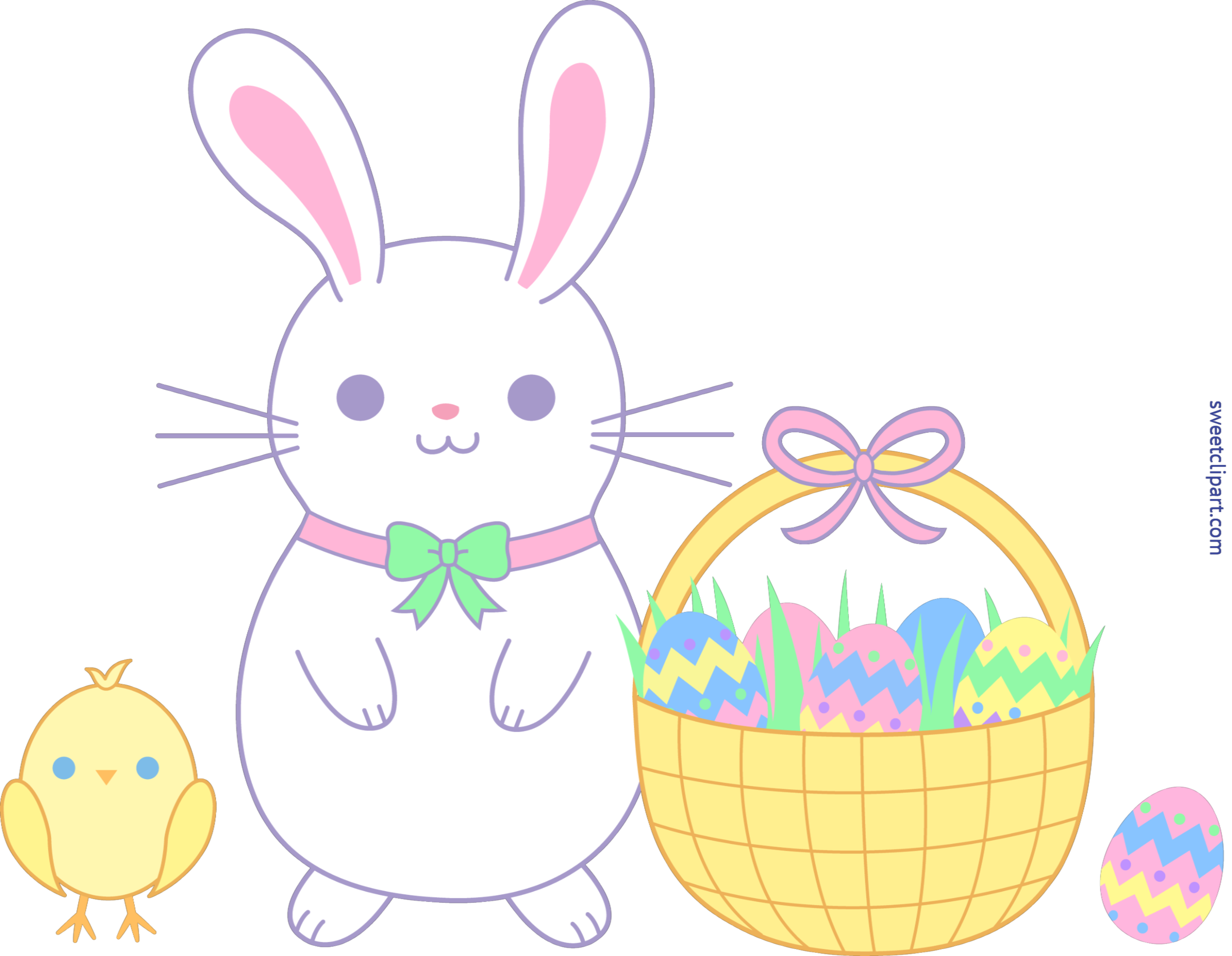 Clipart bunny toy. Cute easter and chick