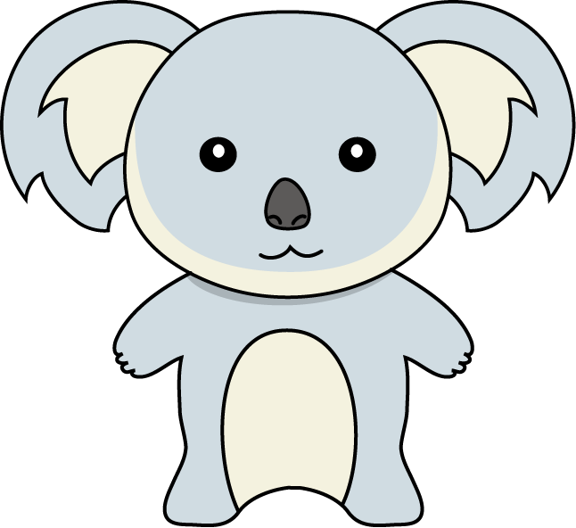 Donut clipart outline. Koala simple free collection