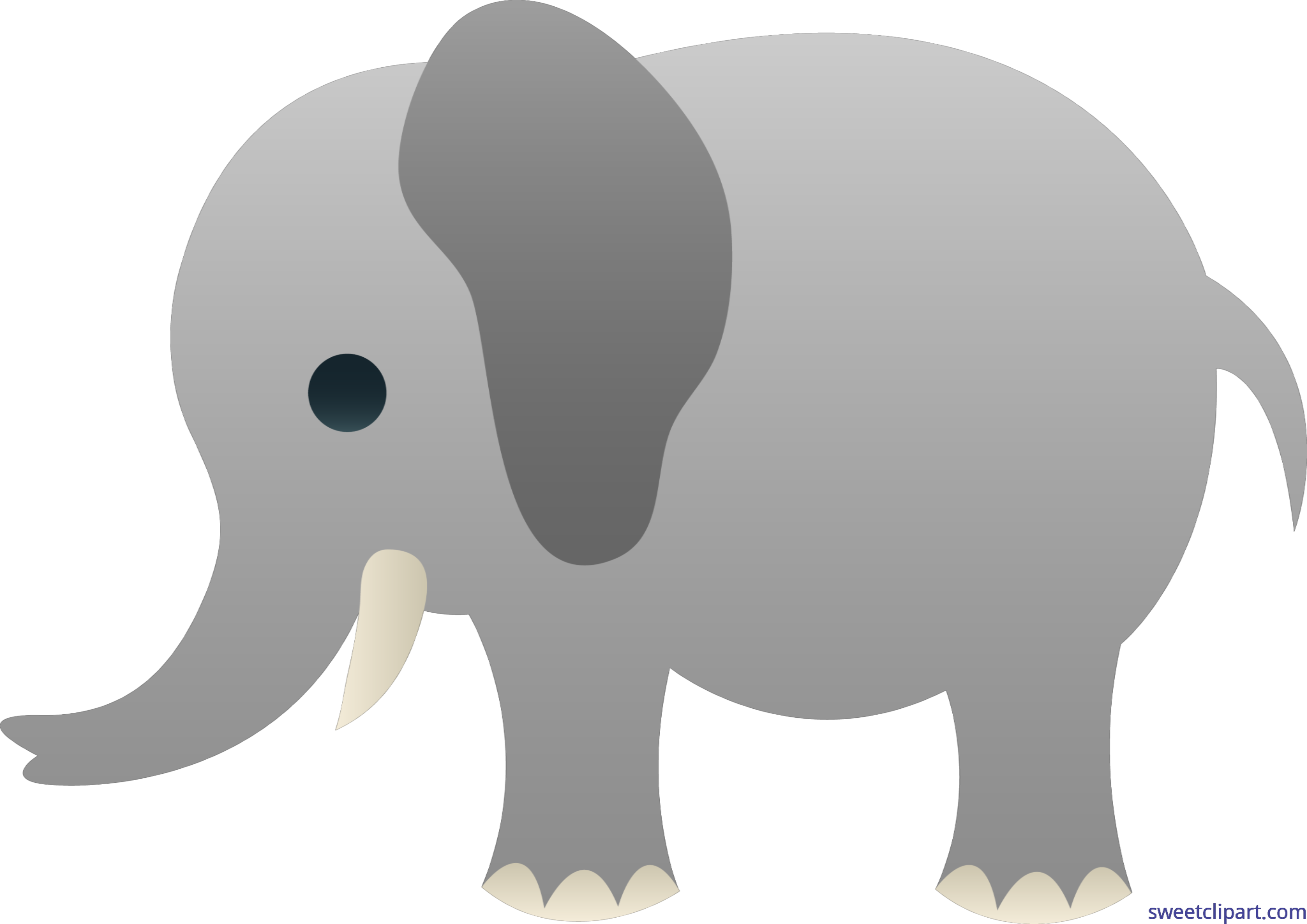 Cute gray clip art. Clipart elephant grey