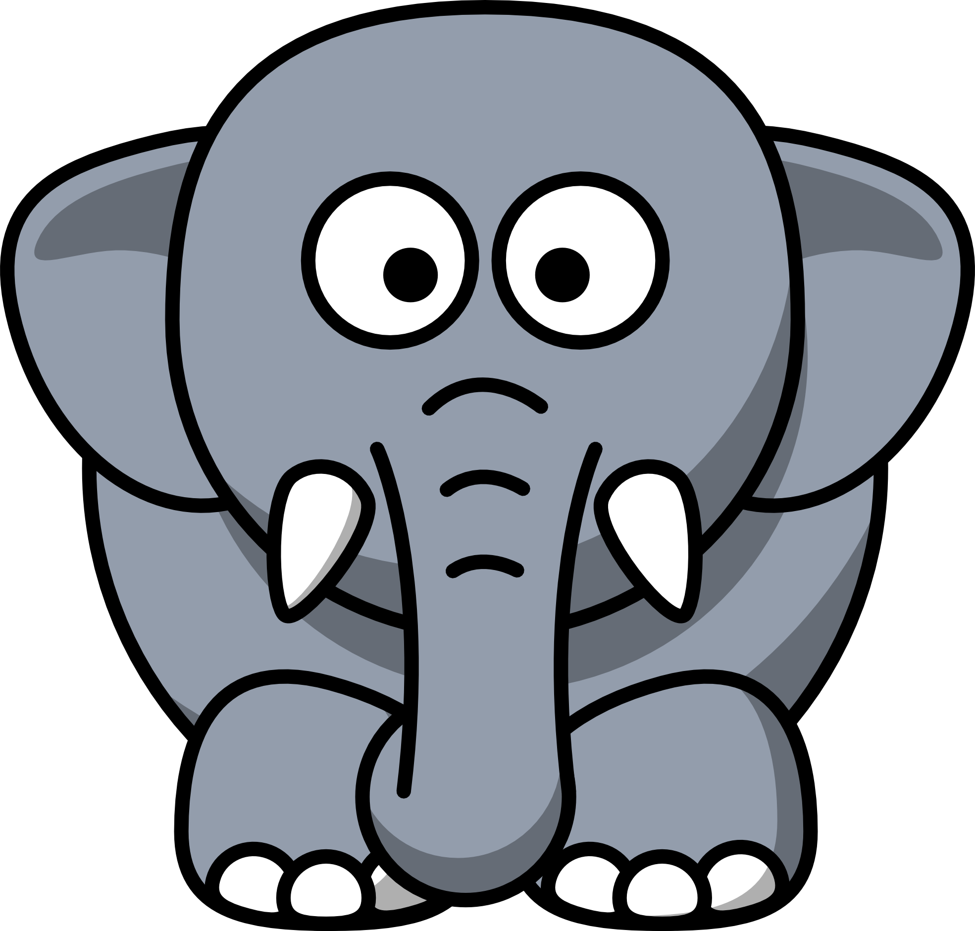 Monkey clipart elephant. Animal cartoon best thegioidongvat