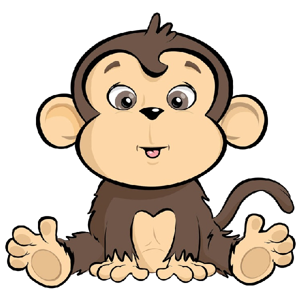 Cartoon monkey image png. Manager clipart zoo