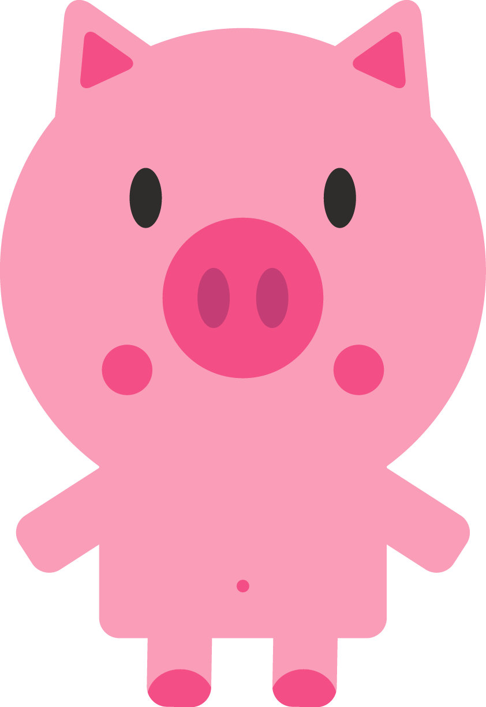 pig clipart beach